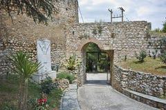 Ingang van het kasteel van Lamia City Stock Afbeeldingen