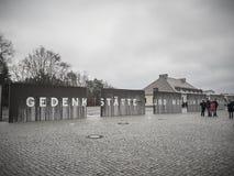 Ingang van het Sachsenhausen-Concentratiekamp royalty-vrije stock foto's