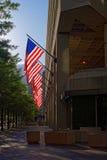 Ingang van J Edgar Hoover Building in Washington DC stock afbeelding