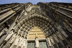 Ingang van kathedraal Keulen Royalty-vrije Stock Fotografie