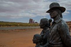 Ingang van Monumentenvallei, Arizona Stock Afbeelding