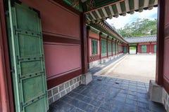Ingang van pagode bij Gyeongbokgung-Paleis royalty-vrije stock afbeeldingen