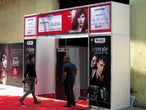 Ingang van Professionele Schoonheid Expo 2015 Stock Afbeeldingen
