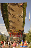 Ingang van Russische pavillon in EXPO Royalty-vrije Stock Afbeelding