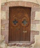 Ingangsdeur aan kasteel stock foto's