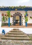 Ingangsmanier van een oude hacienda Royalty-vrije Stock Foto's
