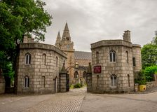 Ingangspoort aan St Machar kathedraal in Aberdeen, Schotland Royalty-vrije Stock Foto