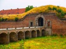 Ingangspoort aan Terezin-stad stock afbeelding