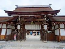 Ingangspoort van het Izanagi-Heiligdom op Awaji-Eiland stock foto's