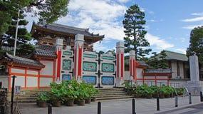 Ingangspoort van Kosanji Temple in Japan stock fotografie