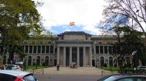Ingangsportaal aan Prado-Museum stock afbeelding