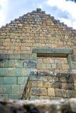 Ingapirca印加人废墟的看法  免版税库存图片
