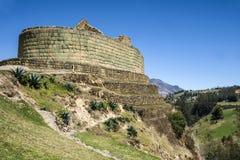 Ingapirca,印加人墙壁和镇在厄瓜多尔 免版税库存照片