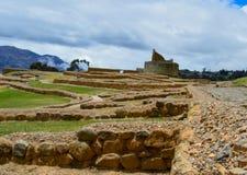 Ingapirca, археологический комплекс, стены и пирамида стоковое фото