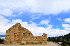 Ingapirca Ancient stone ruins in Ecuador Royalty Free Stock Photo
