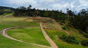Ingapirca, archaeological complex, ducts and walls. Ducts and Base walls of the archaeological complex of Ingapirca, at Cañar, Ecuador stock photography