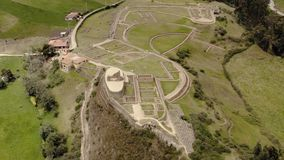 Ingapirca archeological ruins in Ecuador, aerial view