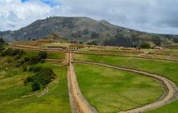 Ingapirca, archeologiczny kompleks, krajobraz obraz stock