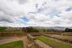 Ingapirca, Ecuador. A view of Ingapirca, the ruins and the city.  Ingapirca, Ecuador Royalty Free Stock Photos