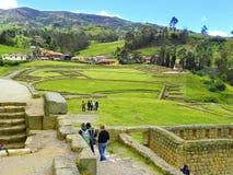 Ingapirca fördärvar, det Canar landskapet, Ecuador royaltyfria bilder
