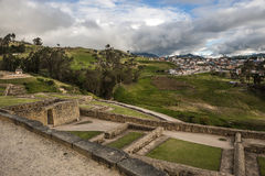 Ingapirca, Inca wall and town, Ecuador. Ingapirca, Inca wall and town, largest known Inca ruins in Ecuador Royalty Free Stock Image