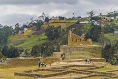 Ingapirca inka ruiny w Azuay Ekwador obraz stock