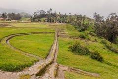 Ingapirca, le complexe de château est de Canar Inca Origin Photo stock