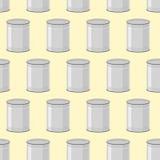 Ingeblikt naadloos patroon Achtergrond van kruiken voor voedsel Royalty-vrije Stock Fotografie