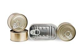 Ingeblikt voedsel Stock Foto's