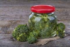 Ingeblikte broccoli Royalty-vrije Stock Foto's