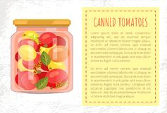 Ingeblikte de Affiche Vectorillustratie van de Tomatenkruik stock illustratie