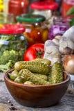 Ingeblikte groenten in het zuur Royalty-vrije Stock Afbeelding