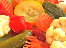 Ingeblikte groentenachtergrond Royalty-vrije Stock Afbeelding