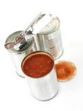 Ingeblikte Tomaten Royalty-vrije Stock Foto's