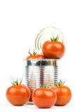 Ingeblikte tomaten 3 Royalty-vrije Stock Foto's