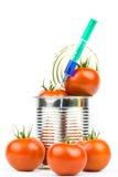 Ingeblikte tomaten 4 Stock Foto
