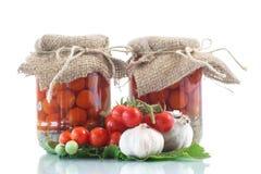 Ingeblikte tomaten Royalty-vrije Stock Foto