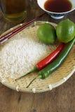 Ingedients tailandeses de la comida Imagen de archivo