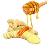 Ingefära och honung Royaltyfria Foton