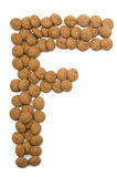 ingefärskaka för alfabet f Royaltyfri Fotografi
