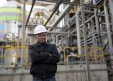 Ingegnere della raffineria di petrolio Fotografia Stock Libera da Diritti