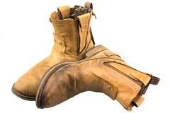 Ingegnere isolato Leather Boot della patina immagini stock