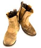 Ingegnere isolato Leather Boot della patina fotografia stock libera da diritti