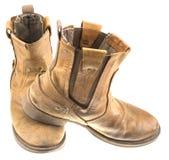 Ingegnere isolato Leather Boot della patina immagini stock libere da diritti