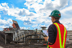 Ingegnere minerario Fotografia Stock