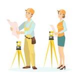Ingegneri femminili e maschii illustrazione vettoriale
