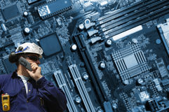 Ingegneria alta tecnologia Fotografie Stock Libere da Diritti