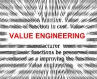 Ingegneria di valore illustrazione vettoriale