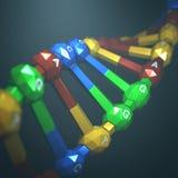Ingegneria genetica del DNA Immagini Stock