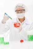 Ingegneria genetica - scienziato in laboratorio Immagine Stock